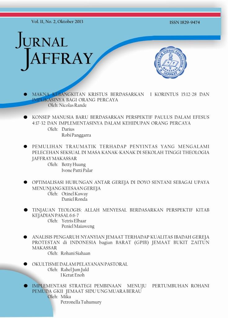 Stt Jaffray Makassar Jurnal Jaffray